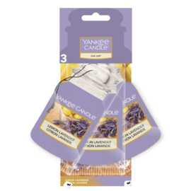 Yankee Candle Car Jar Lemon Lavender 3 Pack