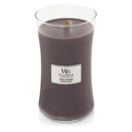 WoodWick Large Candle Sueded Sandalwood