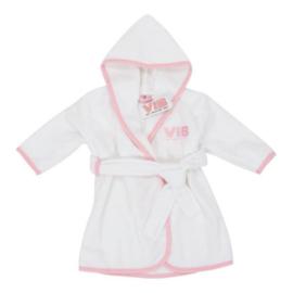 VIB Badjas Wit + Roze (VIB Very Important Baby)