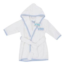 VIB Badjas Wit + Blauw (VIB Very Important Baby)