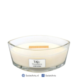 WoodWick Ellipse Candle Island Coconut