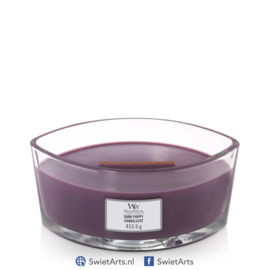 WoodWick Dark Poppy Ellipse Candle