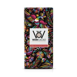 WOWCACAO Chocoladereep Melk Peanut Butter Crunch (130 gram)