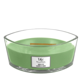 WoodWick Ellipse Candle Hemp & Ivy
