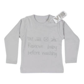 VIB T-Shirt Grijs (Remove baby before washing) 0-3 Maanden