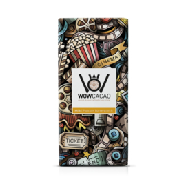 WOWCACAO Chocoladereep Melk Popcorn Butterscotch (130 gram)