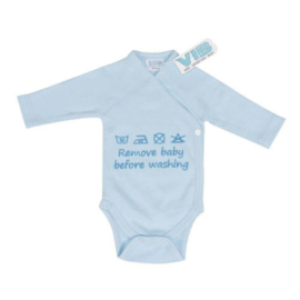 VIB Rompertje Blauw (Remove Baby Before Washing)