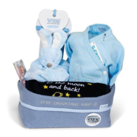 VIB Gift Set 07 met Commodemandje (Blauw) 0-3 Maanden
