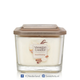 Yankee Candle 3-Wick Square Candle Sweet Frosting Medium