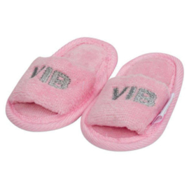 VIB Baby Slippers Roze / Zilver