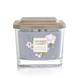 Yankee Candle Medium 3-Wick Square Candle Sea Salt & Lavender