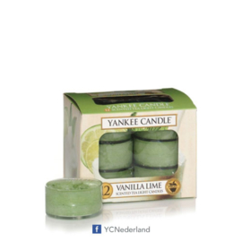 Yankee Candle Tea Light Candles Vanilla Lime