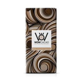WOWCACAO Chocoladereep Wit Stroopwafel Cappuccino (130 gram)