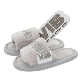 VIB Baby Slippers Grijs / Zilver