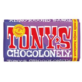 Tony's Chocolonely Melk Rozijn Hazelnoot (180 gram)