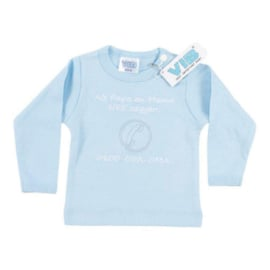VIB T-Shirt Blauw (Als Papa en Mama NEE zeggen!) 0-3 Maanden