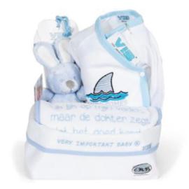 VIB Gift Set 10 met Commodemandje (Blauw) 0-3 Maanden
