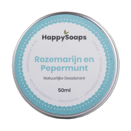 HappySoaps Natuurlijke Deodorant Rozemarijn en Pepermunt 50ml
