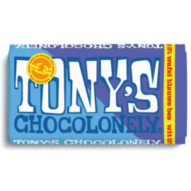 Tony's Chocolonely Wit Wafel Blauwe bes (180 gram)