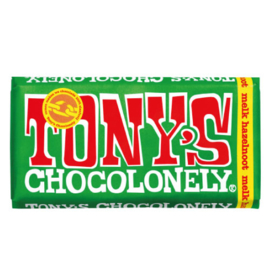 Tony's Chocolonely Melk Hazelnoot (180 gram)