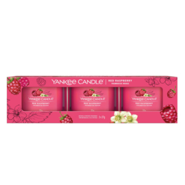 Yankee Candle Filled Votive Red Raspberry 3-Pack