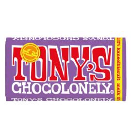 Tony's Chocolonely Melk Kaneelbiscuit (180 gram)
