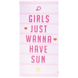 Texy Towel Strandhanddoek (Girls Just Wanna Have Sun)