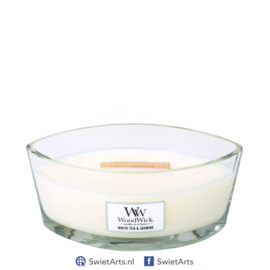 WoodWick White Tea & Jasmine Ellipse Candle