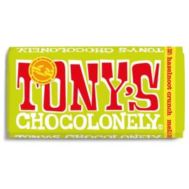 Tony's Chocolonely Melk Romige Hazelnoot Crunch (180 gram)