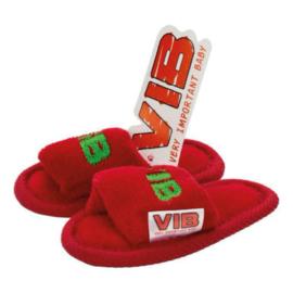 VIB Baby Slippers Kerst Rood / Groen