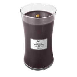 WoodWick Large Candle Black Plum Cognac