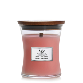 WoodWick Medium Candle Melon & Pink Quartz