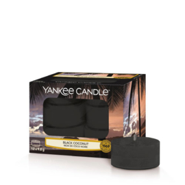 Yankee Candle Tea Light Candles Black Coconut
