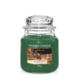 Yankee Candle Medium Jar Tree Farm Festival