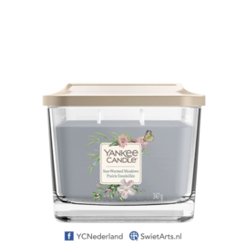 Yankee Candle Medium 3-Wick Square Candle Sun-Warmed Meadows