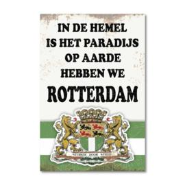 Metalen Wandbord Rotterdam Paradijs