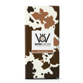 WOWCACAO Chocoladereep Melk 39% Cacao (130 gram)
