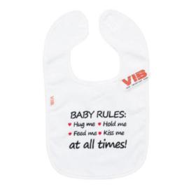 VIB Slabbetje Wit (Baby Rules)