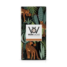 WOWCACAO Chocoladereep Melk Stroopwafel Caramel (130 gram)