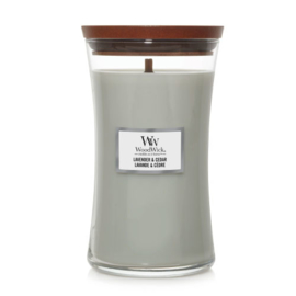 WoodWick Large Candle Lavender & Cedar