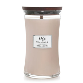 WoodWick Large Candle Vanilla & Sea Salt
