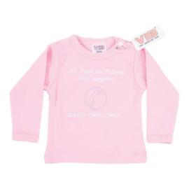 VIB T-Shirt Roze (Als Papa en Mama NEE zeggen!) 0-3 Maanden
