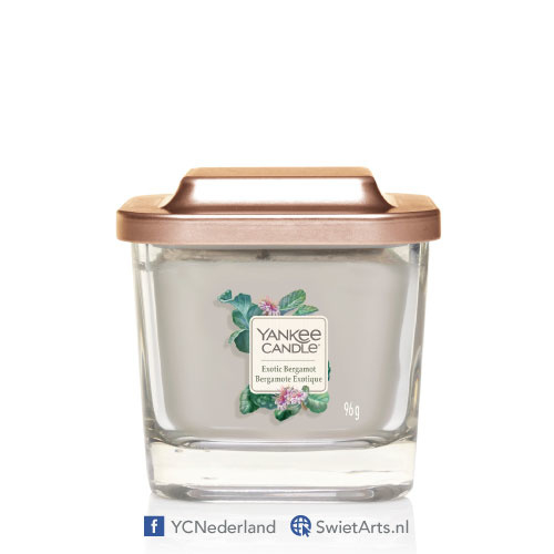 Yankee Candle Small 1-Wick Square Candle Exotic Bergamot