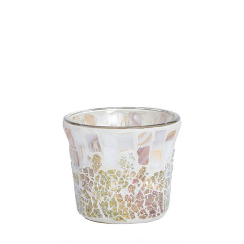 Yankee Candle Votive Holder Gold & Pearl Mosaic