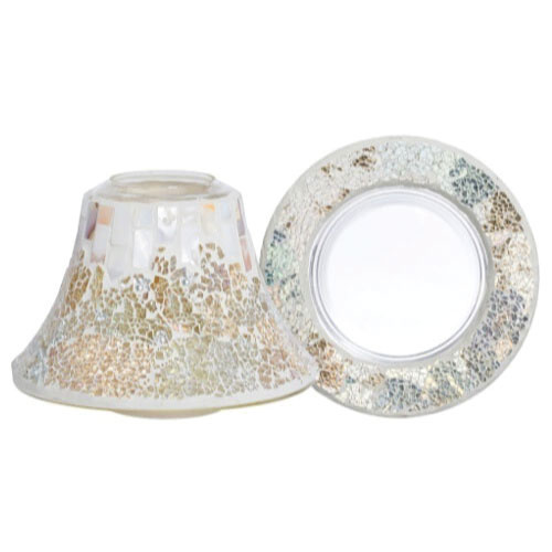 Yankee Candle Large Shade & Tray Gold & Pearl Mosaic