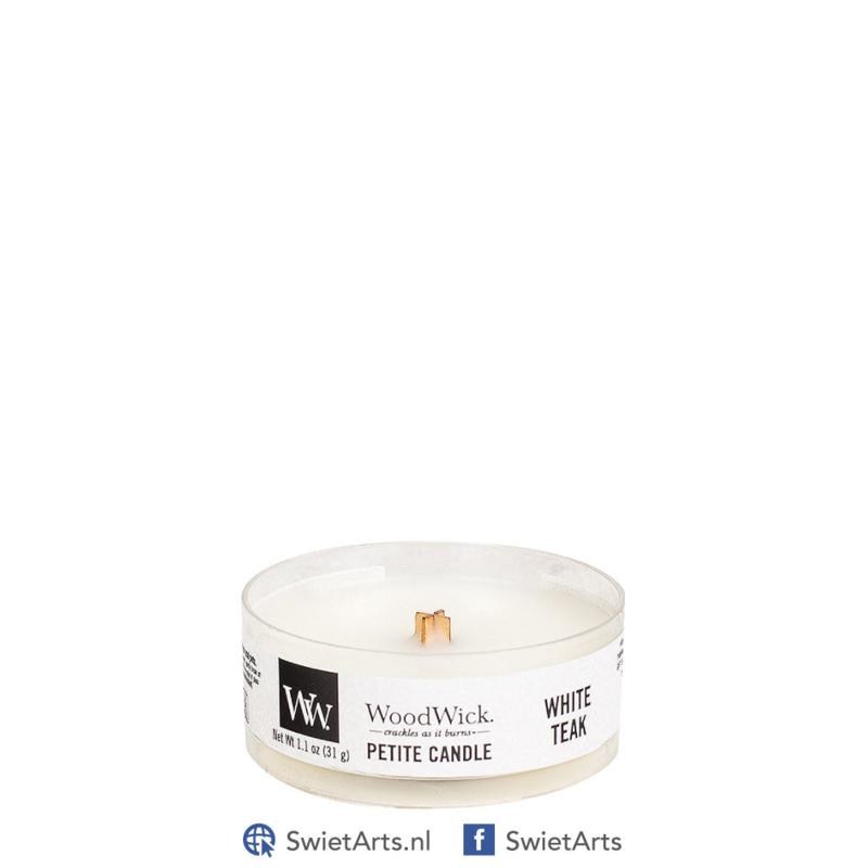 WoodWick Petite Candle White Teak