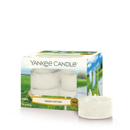 Yankee Candle Tea Light Candles Clean Cotton