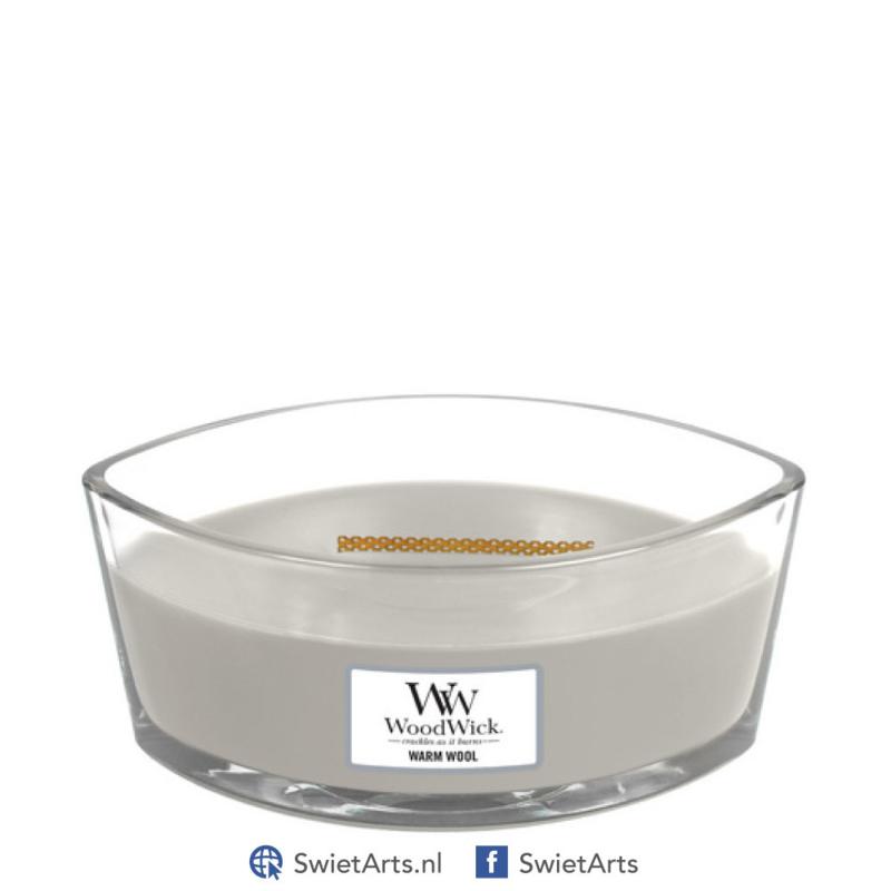 WoodWick Warm Wool Ellipse Candle