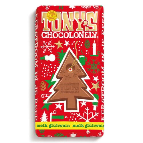 Tony's Chocolonely 180 Gram Melk Gluhwein Kerstreep