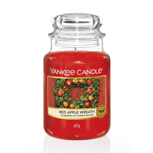 Yankee Candle Large Jar Red Apple Wreath